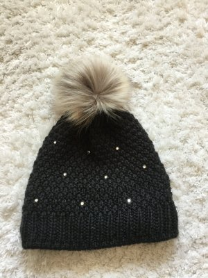 Eisglut Fur Hat black wool