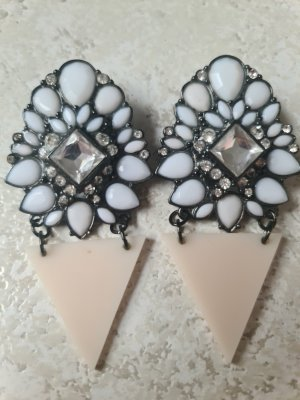 H&M Statement Earrings white-cream