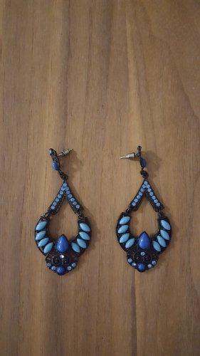 Statement Ohrringe blau schwarz