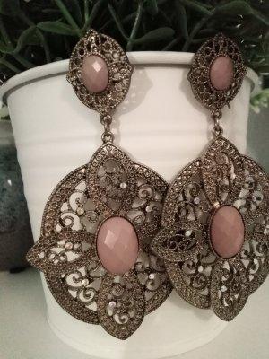 Bijou Brigitte Pendientes de cuentas color bronce-rosa empolvado