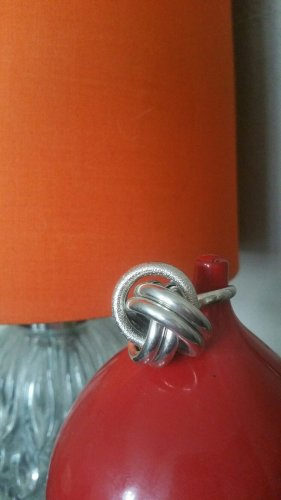 Statement Ring H&M (M/L), Knoten, silber; neuwertig; Kombiversandidee