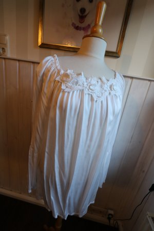 Made in Italy Blouse brillante blanc viscose