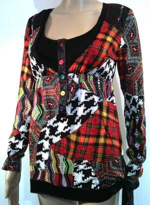 Top taille empire multicolore coton