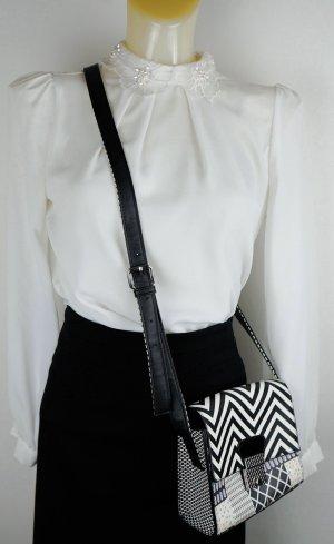 Crossbody bag black-white