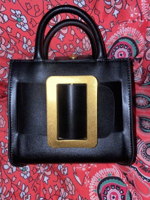 0039 Italy Torebka z rączkami czarny-złoto