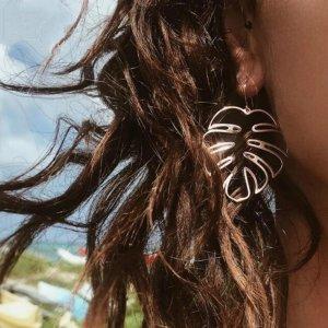 Statement Zara Bogo rosegold Ohrringe im Blattdesign, sommerlich, neu
