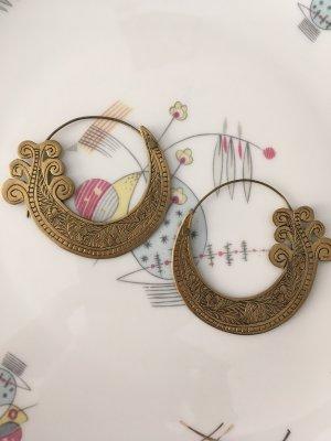 Ear Hoops bronze-colored metal