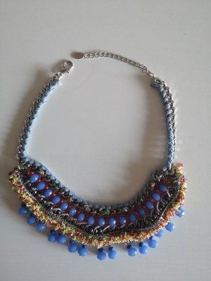 Zara Women Collier incrusté de pierres multicolore