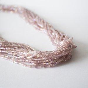 Statementkette aus rosèfarbenen Perlen