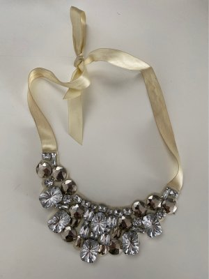 H&M Statement Necklace silver-colored-natural white