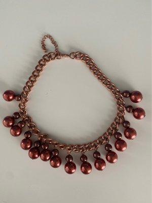 H&M Statement Necklace russet-bordeaux