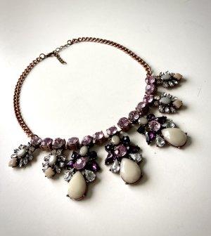 Statementkette Halskette violett lila fliederfarben