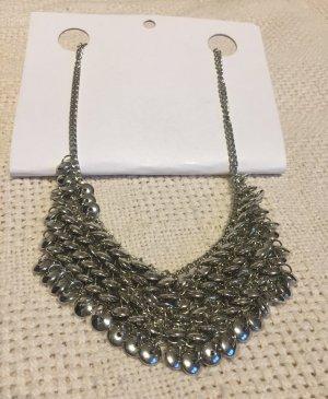 Pieces Collar color plata