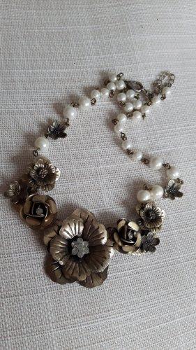 Accessorize Statement Necklace gold-colored-cream