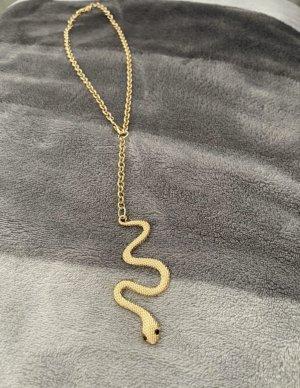statementkette schlange  snake in gold