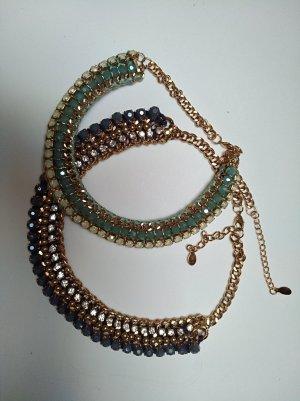 Accessorize Collar estilo collier azul aciano-turquesa metal
