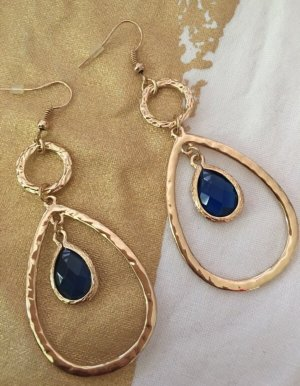 Accessoires Pendientes de cuentas color oro-azul
