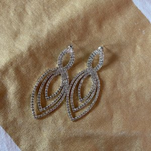 H&M Statement Earrings silver-colored
