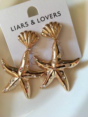 Zalando Statement Earrings gold-colored