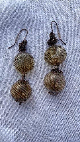 Zara Statement Earrings bronze-colored glas