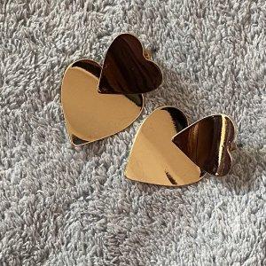 H&M Pendientes de cuentas color oro