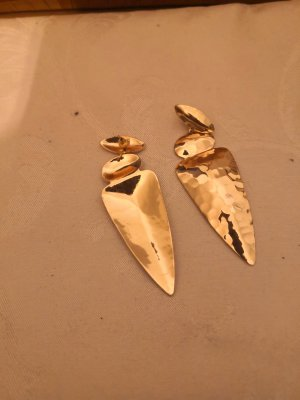 Zara Zdobione kolczyki złoto