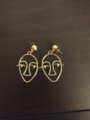 H&M Zdobione kolczyki złoto