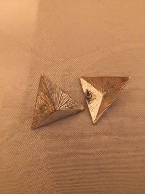 Statementohrringe Silber Dreieck