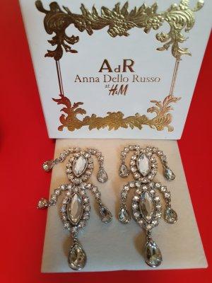 Anna Dello Russo for H&M Statement oorbellen wit-zilver