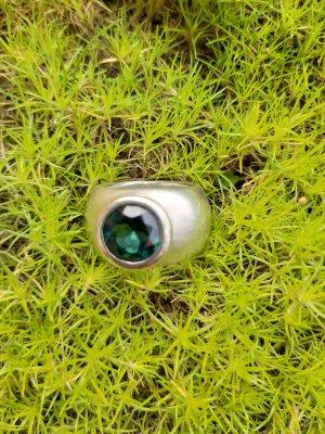 Goldschmied Zilveren ring zilver-donkergroen