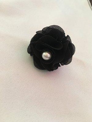 Bijou Brigitte Bague incrustée de pierres noir-blanc