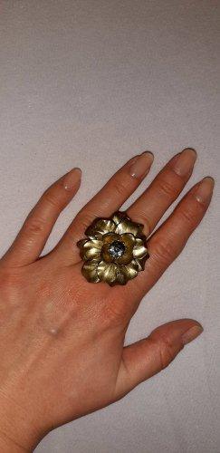 Bijou Brigitte Bague incrustée de pierres doré