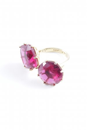 Statement Ring gold-colored-magenta extravagant style