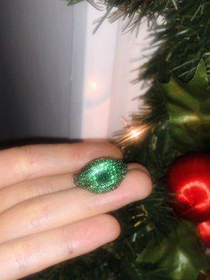 Statementring grün Zirkonia Emblemring Damen gold Caviar