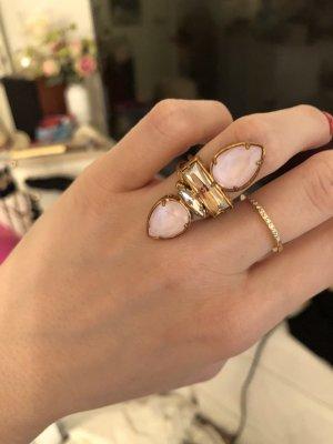 Cadenzza Zdobiony pierścionek Wielokolorowy