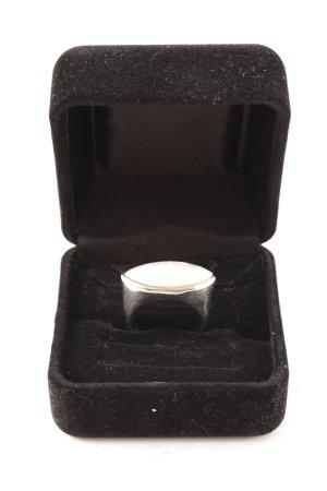 Statement Ring silver-colored-cream elegant