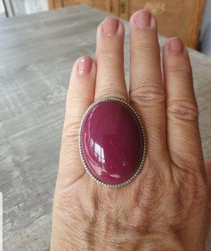 Anello di fidanzamento argento-viola