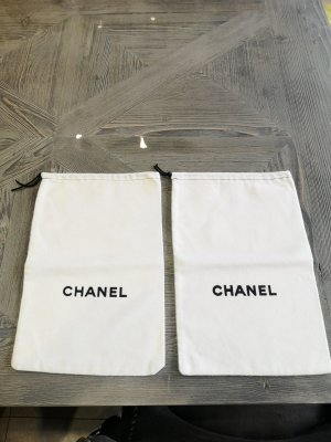 Chanel Pouch Bag white-black