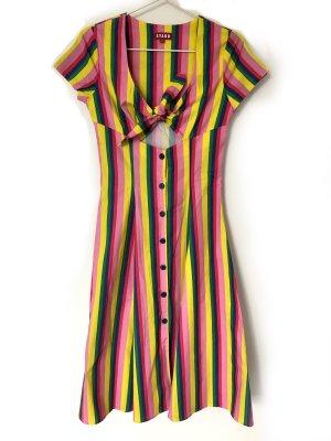 Staud Vestido cut out multicolor Algodón