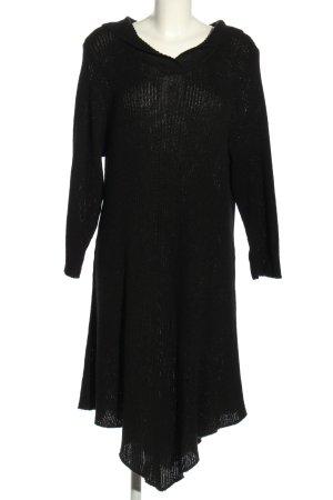 Staxx Vestido con capucha negro punto trenzado look casual