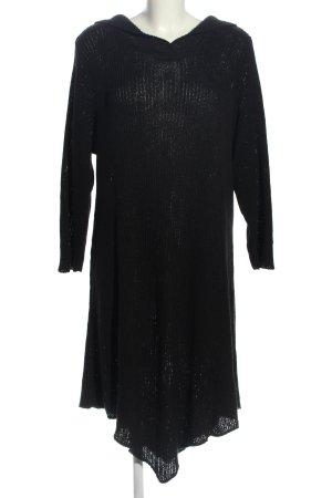Staxx Vestido tejido negro punto trenzado look casual