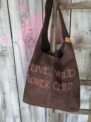 Pouch Bag dark brown leather