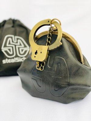 Bolso con correa color oro-gris antracita Imitación de cuero