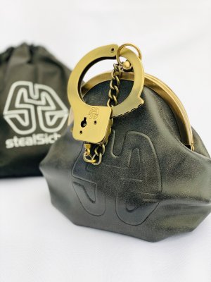 Frame Bag gold-colored-anthracite imitation leather