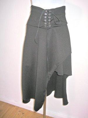 Asymetryczna spódniczka czarny Elastan