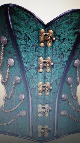 Steampunk-Korsett mit Ketten, Waist Taming, grün, Gr. 38