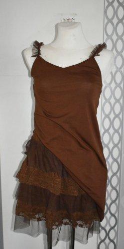 Falda de encaje marrón Algodón