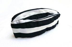 Cappello in tessuto bianco-nero