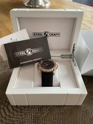 Zegarek cyfrowy czarny-w kolorze różowego złota