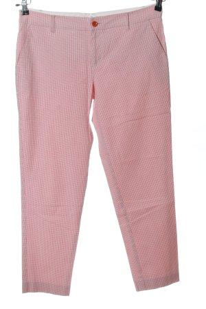 Stefanel 3/4-Hose pink Karomuster Casual-Look